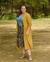 Sarah cardigan, Classic T, and Madison skirt